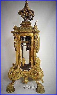 Pendule cage bronze doré Ancely Toulouse Réf/A/23/5