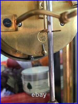 Pendule cage en bronze au mercure échappement visible estampillée Marti fin XIXe