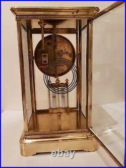 Pendule cage en verre régulateur. Vers 1900