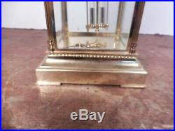 Pendule cage laiton et 4 verres bisautes L'Epee1839 fonctionne sonne