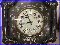 Pendule carillon horloge oeil de boeuf Napoléon III