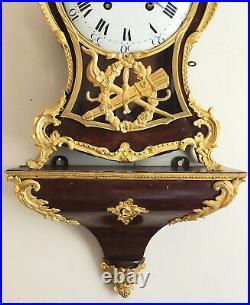 Pendule cartel Neuchâtelois. Sonnerie des quarts. Fin 18ème
