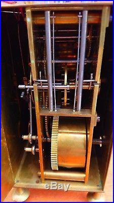 Pendule comtoise horloge CAPUCINE 3 cloches / 4 marteaux officier voyage