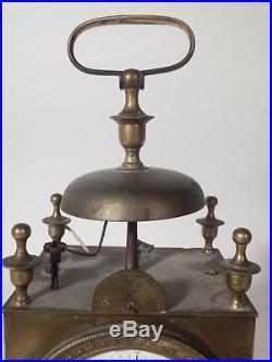 Pendule d'officier capucine sonnerie réveil époque Empire début 19è