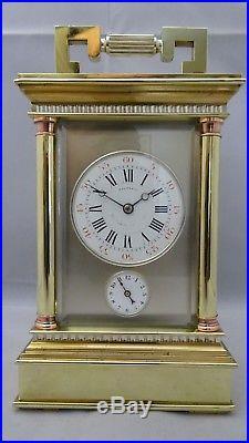 Pendule d'officier de voyage ECHAPPEMENT SPECIAL breveté (fin XIXème siècle)