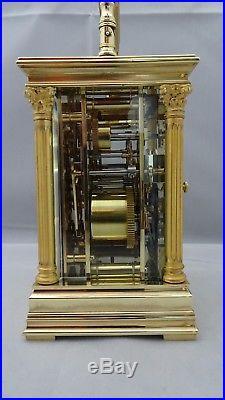 Pendule d'officier de voyage répétition des quarts (fin XIXème siècle)