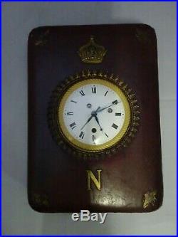 Pendule d'officier de voyage sonnerie répétition heures 1er EMPIRE