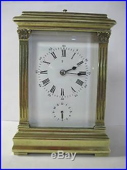 pendule d officier pendule de voyage sonnerie carriage clock horloges pendules. Black Bedroom Furniture Sets. Home Design Ideas