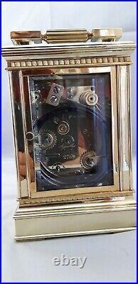 Pendule de voyage d'officier Charles OUDIN carillon Westminter grande sonnerie
