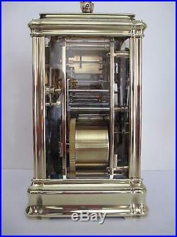 Pendule de voyage d'officier Henry JACOT grande sonnerie, carriage clock
