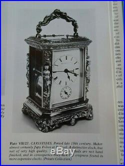 Pendule de voyage, d'officier JAPY Rococo cariatides(médaille exposition 1835)