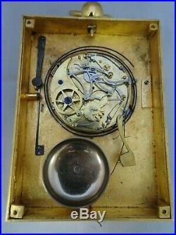 Pendule de voyage d'officier reveil sonnerie repetition heures (1815-1830)