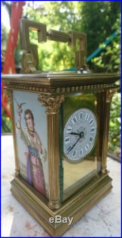 Pendule de voyage officier reiseuhr Achille Brocot carriage clock