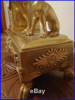 Pendule empire en bronze dore