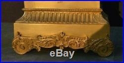 Pendule empire restauration bronze dore (romantique mouvement fil)