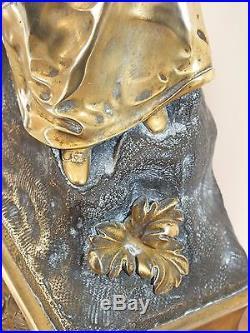 + Pendule en Bronze époque restauration mouvement à fil signé Pons (1823) +