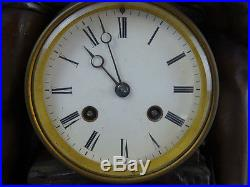 Pendule en bronze et marbre Scène mythologique signé Falconnet clock reloj uhr