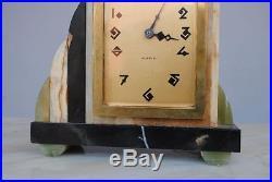 Pendule en onyx 1930 époque Art déco
