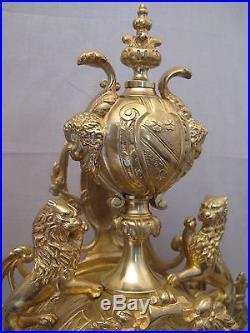 Pendule garniture de cheminée en bronze époque Napoléon III