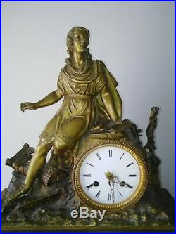 Pendule horloge bronze restauration sculpture horlogerie mouvement