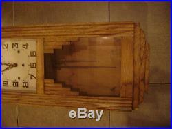 Pendule horloge carillon ancien odo 36 8 marteaux 8 tiges