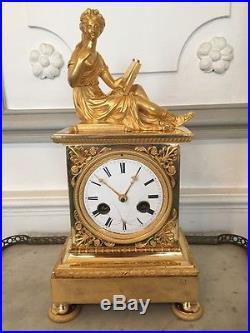 Pendule horloge directoire bronze doré XVIII ème siècle