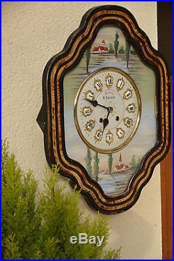 Pendule horloge oeil de boeuf
