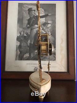 Pendule horloge squelette époque Directoire en bronze XVIII révisée clock uhr
