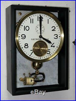 Pendule industrielle BRILLIE electric master clock (no lepaute, ato)