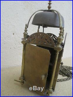 Pendule lanterne anglaise 18é
