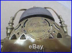 Pendule lanterne anglaise du 18è siécle à 1 aiguille