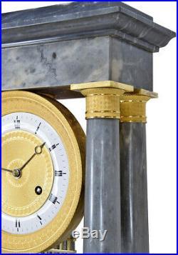 Pendule marbre. Kaminuhr Empire clock bronze horloge antique cartel uhren
