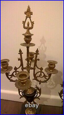 Pendule marbre garniture de cheminée napoléon iii