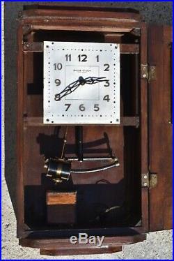 Pendule murale electrique BULLE- CLOCK 1925 (no Ato, Brillié, Lepaute) regulateur