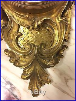 Pendule murale style Louis XV Napoléon III bronze doré