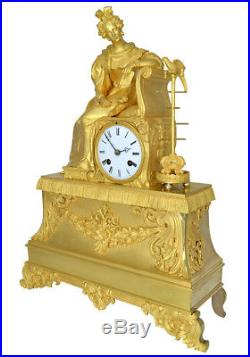 Pendule oiseaux. Kaminuhr Empire clock bronze horloge antique uhren