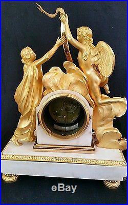 Pendule époque Louis XVI l'inoccence signée Thomas bronze de R Osmond