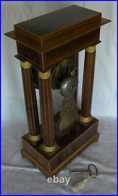Pendule portique Charles X 19ème fonctionne clock uhr orologio reloj