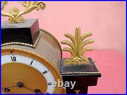 Pendule portique en bronze Et Marbre mouvement A fil PAILLET CHAILLOT DIJON