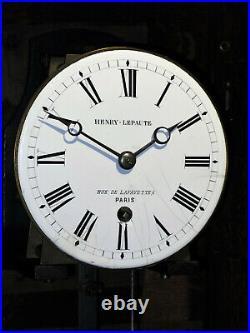Pendule régulateur mural HENRY LEPAUTE regulator clock (no paul Garnier)
