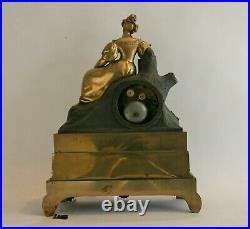 Pendule romantique en bronze doré, c. 1830