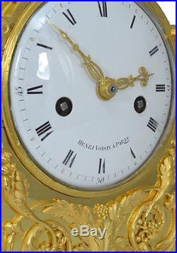 Pendule table XVIIIème. Kaminuhr cartel empire bronze clock uhren antique louis