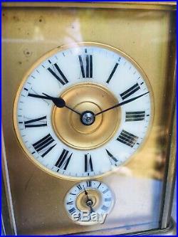Pendulette De Voyage Grande Et Petite Sonnerie Pendule Officier
