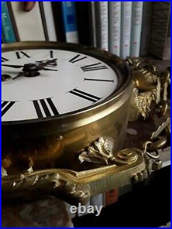 Pendulette Pendule Bronze Dore Louis XVI XIX Fonctionne Cle