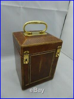 Pendulette d'officier de voyage répétition quarts petite sonnerie (1840)
