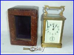Pendulette d'officier fin XIX début XX horloge en bronze XIX pendule de voyage
