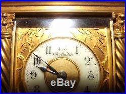 Pendulette de voyage ou d'officier Carriage clock Charles Oudin