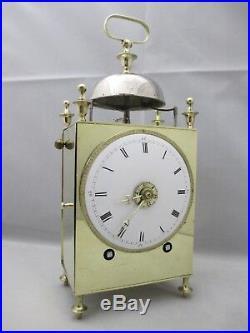Pendulette, pendule CAPUCINE (fin XVIIIème) à sonnerie