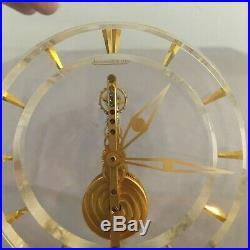 Pendulette squelette Jaeger Lecoultre plexiglas et bronze doré circa 1960 XXèm