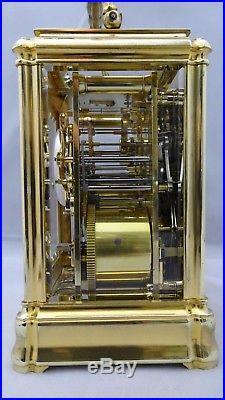 Pendulette voyage officier sonnerie calendrier carriage clock Henry JACOT